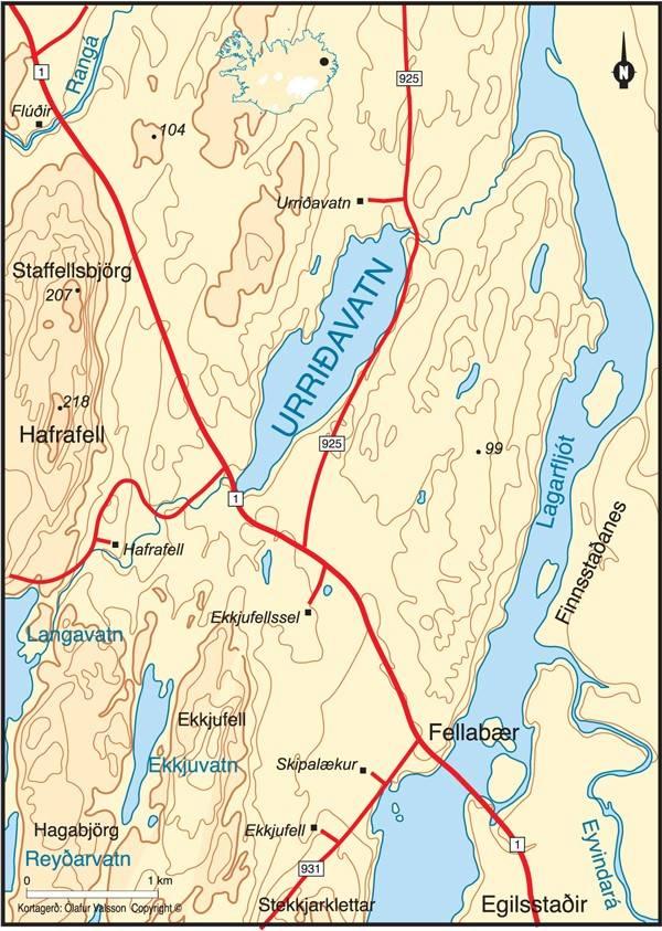 Urriðavatn við Egilsstaði