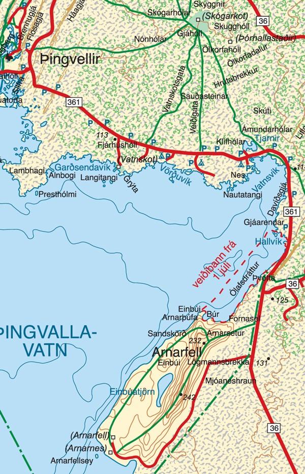 Veiðistaðakort af Þingvallavatni