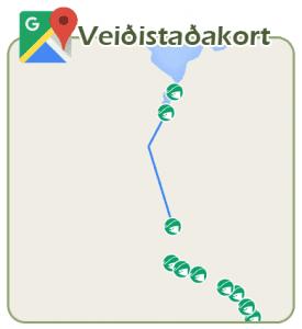 Veiðistaðakort Veiðistaðavefsins - Minnivallarlækur